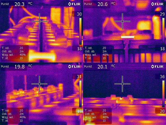 Pomiar termowizyjny ups-a, zasilacza awarynego